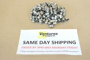 Schrader Valve Stem Cap Stainless Steel Metal Made In Usa Lot Of 100
