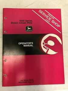 John Deere Operators Manual 1650 Series Drawn Chisel Plow Om n159480 L8
