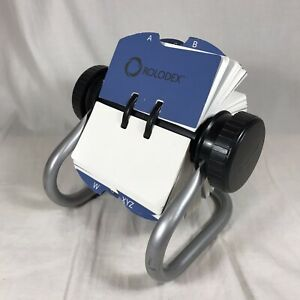 Rolodex Flip Stand Address Phone Contact Business Card File Blank 2 25 X 4