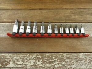 matco Tools 1 4 3 8 Drive Torx Socket Driver Set 12 pcs T8 t55 usa rail euc