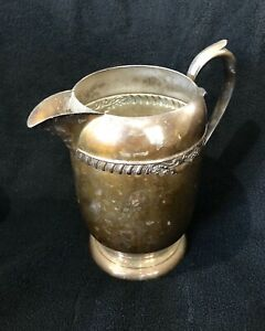 Antique Silver Plated Pitcher Sheridan Silver Co 8 5