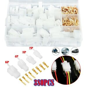 380x Automotive Wire Connector 2 3 4 6 Pin Male Female Cable Terminal Plug Kit