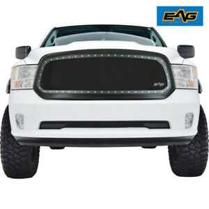 Eag Fits 13 18 Dodge Ram 1500 Rivet Grille Stainless Steel Wire Mesh With Shell