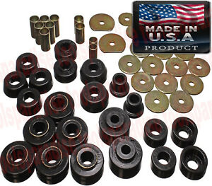Chevrolet Impala 1970 1965 Black Rubber Poly Cab Body Mount Bushing Kit