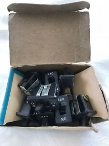 Nos Vtg Leviton Bakelite Single Snap In Toggle Switches Lot Of 8
