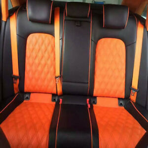 Orange 4 8cm Auto Racing Car Harness 3 Point Front Safety Retractable Seat Belt