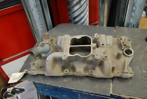 Vintage Used Edelbrock Aluminum Intake Small Block Chevy S P 2 T Hot Rod