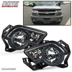 Pair For 2002 2003 2004 2005 2006 Chevrolet Avalanche silverado Front Fog Lights