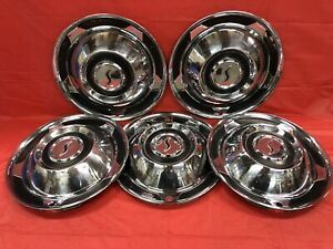 Vintage Set Of 5 1958 Studebaker 14 Hubcaps Good Condition