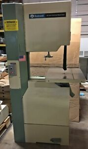 Rockwell 20 Vertical 2 Speed Wood Cutting Bandsaw 2hp