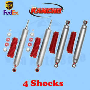 Rancho Rs9000xl Front rear 4 Lift Shocks For Dodge Ram 1500 4wd 06 08 Kit 4
