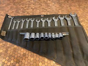 Snap On 16 Pc 12 Point Standard Combination Wrench Set Oex And Socket Set