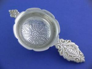 Wonderful Antique Sterling Tiffany Co Tea Strainer W Scroll Patterns No Mono
