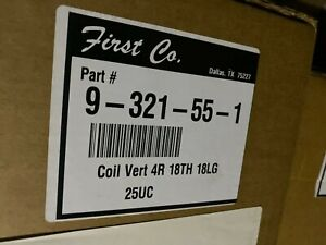 New First Co 9 321 55 1 18 X 18 4 Row Vertical Water Coil 187402