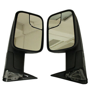 Pair Fits Dodge Ram 1500 1994 02 2500 3500 Towing Flip Up Manual Mirrors Upgrade