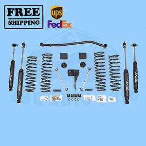 Zone 4 Lift Kit For Jeep Wrangler Jk 07 17 4wd 4dr Gas Nitro Shocks