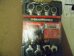 Gearwrench 4pc Large Sae standard Ratcheting Wrench Set