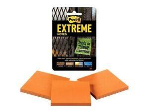 Post it Notes Extreme Notes 3 X 3 Orange Pack Of 3 Pads Brand New