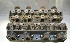 1969 Ford 428 Cobra Jet Cylinder Head Pair Heads C8oe 6090 n Mustang Fe Big Bloc