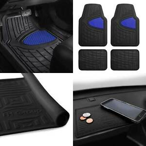 Car Floor Mats Dash Mat Combo For Auto Car Heavy Duty Blue Black