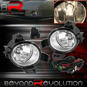 For 2005 2006 Nissan Altima Jdm Replacement Front Bumper Fog Lights Clear Set