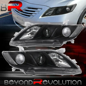 Brand New 2007 2009 For Toyota Camry Jdm Projector Lens Black Headlights Pair