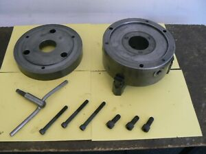 Tii 8 Three Jaw Chuck With A2 6 Backplate From Haas Hrt a6 Rotary Table Indexer