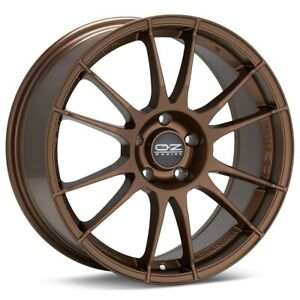 O z Racing Ultraleggera 17x8 5x114 3 Et48 Matte Bronze 4 Wheels