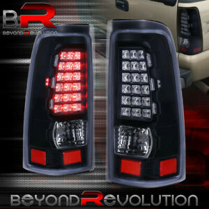 For 1999 2006 Chevy Silverado 1500 2500 3500 Led Black Tail Lights Rear Lamps