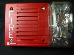 Simplex 4903 9237 Audible Visual Fire Alarm Strobe 24vdc Free Shipping