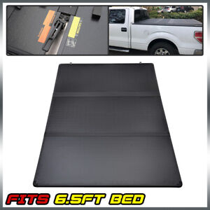 5 5ft Short Bed For 07 13 Toyota Tundra Extra Lock Hard Tri fold Tonneau Cover