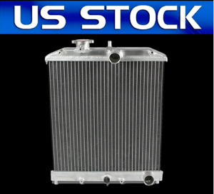 2 Rows For 1992 00 Civic Eg Ek del Sol integra At Aluminum Core Cooling Radiator