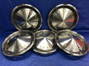Vintage Set Of 5 1971 Chrysler 15 Hubcaps