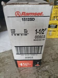 Ramset 1512sd Fastener Pin With Washer 1 1 2 In 6 Boxes 100 Per Box