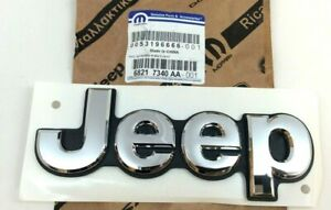2014 2020 Jeep Grand Cherokee Liftgate Hatch Chrome Nameplate Emblem New Oem