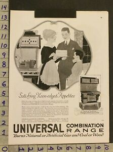 1919 Architecture Kitchen Universal Range Gas Coal Wood Cook Stove Oven Ad Sn71