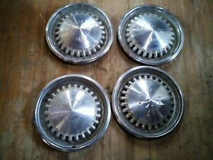 1969 69 Chrysler Hubcaps Wheel Covers New Yorker Newport Mopar Vintage Oem