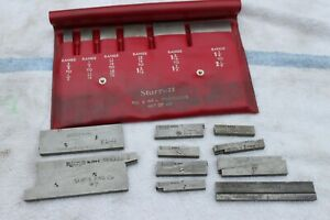 Starrett No S 154 L Parallels Set 3 8 To 2 1 4 Plus 10 Additional 154 a To E
