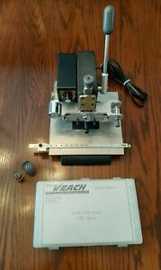 Veach Proprint 31 Hot Foil Stamping Machine Slightly Used