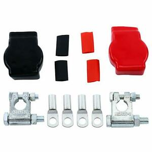 Universal Car Military Style Battery Terminal Top Post Kit W Covers Us