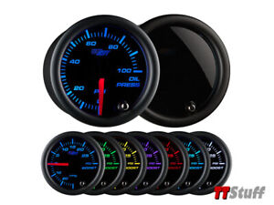 Glowshift Tinted 7 Color Oil Pressure Gauge 52mm Gs t704