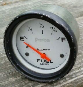 Vintage Auto Meter Phantom Fuel Level Gauge