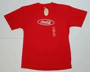 Vintage Coca Cola T Shirt Adult L 1999 New With Tags Cracker Barrel Made USA
