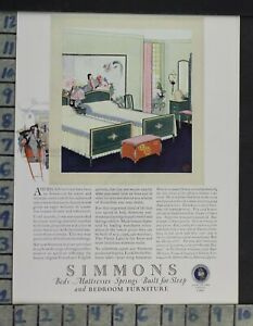 1924 Home Decor Bedroom Simmons Bed Mattress Spring Furniture Vintage Ad Cp70