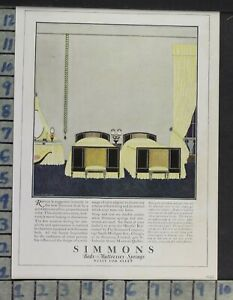 1923 Home Decor Bedroom Simmons Bed Matress Spring Furniture Vintage Ad Cp89