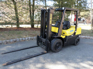 Hyster Fortis H80ft Forklift Truck 8 000 Lbs Lift Capacity V6 And 6 Forks