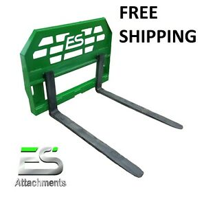 Es 42 John Deere Pallet Forks Quick Attach Powder Coated Green Free Shipping