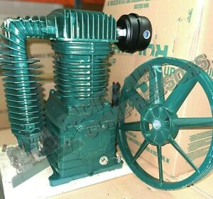Chinook Rolair 5 To 7 5hp 2 Stage Air Compressor Pump W Flywheel Air Filter