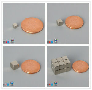 N52 1 8 3 16 1 4 Cube Magnets Multiple Size Rare Earth Neodymium Block