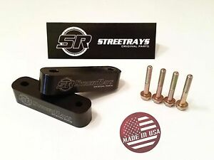 Streetrays Hood Spacer Risers For Civic Integra Crx Rsx Prelude Black